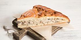 Пирог с курой и грибами - Фото