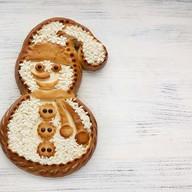 Пирог с творожной начинкой Снеговик Фото