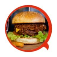 Американский бургер с говядиной Фото