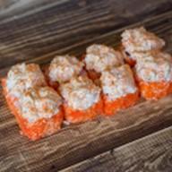 Горячий ролл с лососем и креветкой Фото