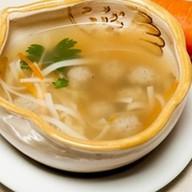 Суп с домашней лапшой и фрикадельками Фото