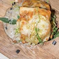 Маульташен с мясом быка, кабачком-гриль Фото