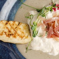 Крем-суп из чечевицы с пармой и багетом Фото