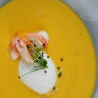 Тыквенный крем-суп с яйцом пашот Фото