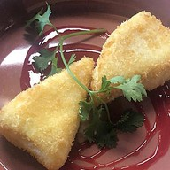Жареный сулугуни с ежевичным соусом Фото
