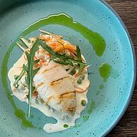 Кальмары на гриле с овощами Фото