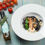 Черная паста Дары моря Фото