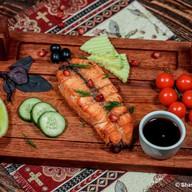 Шашлык из филе семги Фото