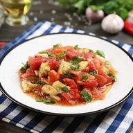 Cалат из печеных овощей на мангале Фото
