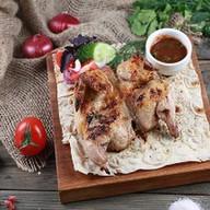 Шашлык из цыпленка на углях XXL Фото