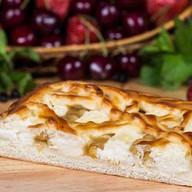 Пирог с творогом и яблоками Фото