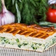 Пирог с зеленым луком яйцом Фото