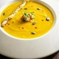 Тыквенный суп с камчатским крабом Фото