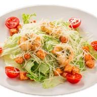 Цезарь с креветкой салат Фото