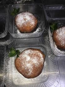 Пончик по-тбилиски с шоколадной пастой - Фото