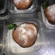 Пончик по-тбилиски с шоколадной пастой Фото