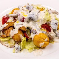 Картофельный в сливочно-грибном соусе Фото