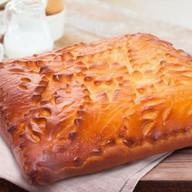 Пирог с семгой и луком (дрожжевой) Фото