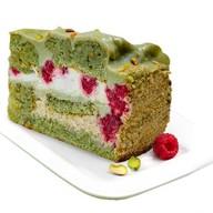 Фисташково-малиновый торт Фото