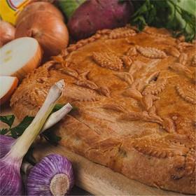 Пирог с говядиной и картофелем - Фото