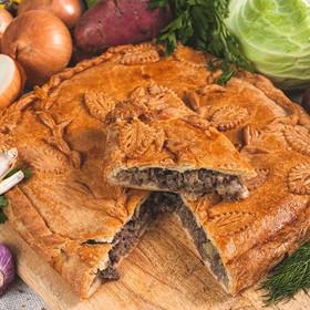 Пирог мясной с картофелем - Фото