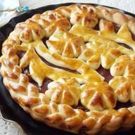 Пирог с бананом и клубникой (открытый) Фото