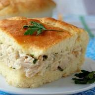 Пирог с курицей,картофелем и луком Фото