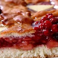 Пирог с яблоком и брусникой (открытый) Фото