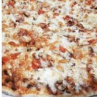 Пицца мини с курицей и беконом Фото