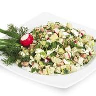 Нарезка для окрошки овощная Фото