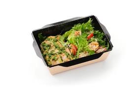 Салат овощной с куриной грудкой - Фото