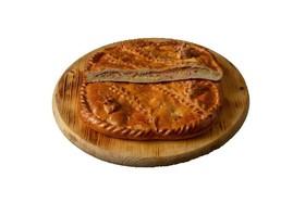 Пирог с семгой и картофелем (на заказ) - Фото
