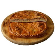Пирог с семгой и картофелем (на заказ) Фото