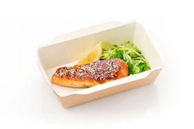 Лосось с соусом терияки и салатом - Фото