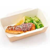 Лосось с соусом терияки и салатом Фото