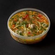 Суп с лапшей и фрикадельками из индейки Фото