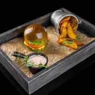 Бургер с нежнятиной Фото