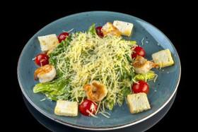 Цезарь салат с креветками - Фото