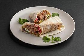 Кебаб из свинины и говядины в лаваше - Фото