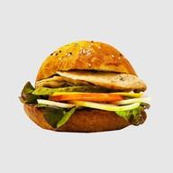 Бургер курица гриль Фото