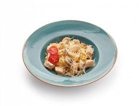 Феттучини с цыплёнком и грибами - Фото