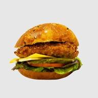 Бургер курочка в панировке Фото