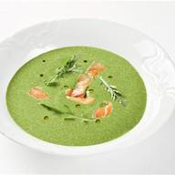 Крем-суп из шпината с лососем Фото