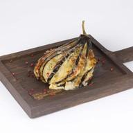 Баклажан запеченный с ветчиной, томатами Фото