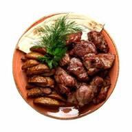 Шашлык из свинины + картофельные дольки Фото