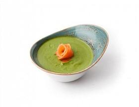 Крем-суп из шпината с лососем - Фото