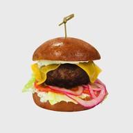 Бургер с мраморной говядиной (острый) Фото