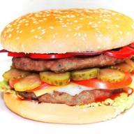 Гамбургер королевский двойная котлета Фото