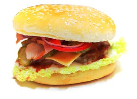 Гамбургер макси с беконом - Фото
