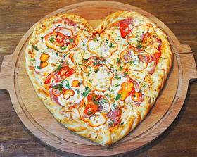 Сердце пицца - Фото